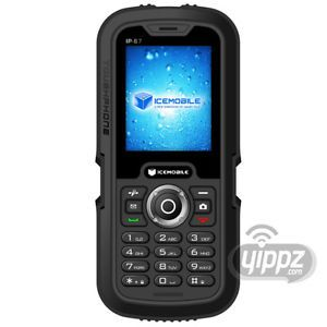 Icemobile Submarine IP67 Unlocked Worldwide Quadband GSM Dual Sim Cell Phone Blk