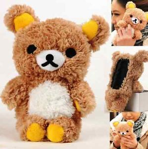 Hot 3D Cute Teddy Bear Doll Toy Plush Case Cover for Huawei Mobile Smart Phones
