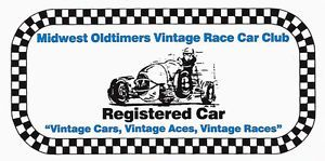 Midwest Oldtimers Vintage Race Car Club Drag Race Hot Rod Decal Sticker
