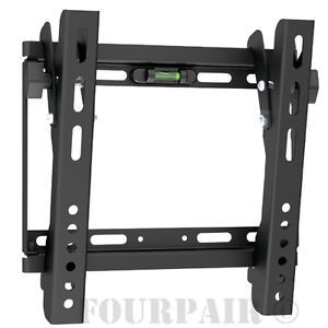 TV LCD LED Plasma Monitor Vesa Wall Mount Bracket Tilt 20 21 23 26 27 30 32 37""