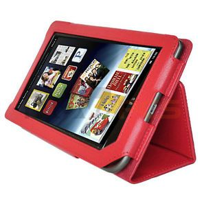 New PU Leather Cover Case Stand for Barnes Noble Nook Color Nook Tablet Red