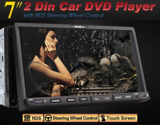 "Double 2 DIN 7"" Car DVD CD  Player TFT Screen in Dash Stereo Radio RDS Camera"