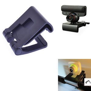 Black TV Clip for PS3 Move Eye Camera Mount Holder Stand