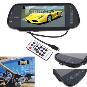 "7"" TFT LCD Color Car Rearview Monitor w SD USB MP5 FM"