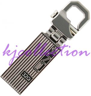 PNY 32GB 32G USB Flash Pen Drive Disk Clip Hook Hinge Metal Attache Transformer