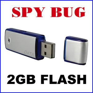2GB Spy Ear Voice Recorder Bug USB Flash Drive Gadgets