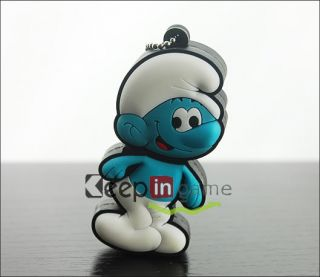 New 4GB Cartoon Smurfs Pattern USB 2 0 Flash Memory Drive Stick Pen 4 GB