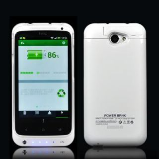 HTC One x External Battery Case Charger Juice Pack 2200mAh Power Bank White New