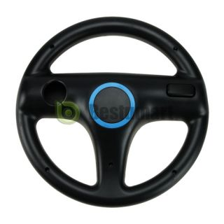 New Steering Wheel Game Controller For Nintendo Wii MARIO KART RACING GAME Black