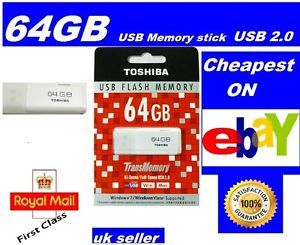 Toshiba USB Flash Drive Memory Stick Pen Drive 64GB USB2 0