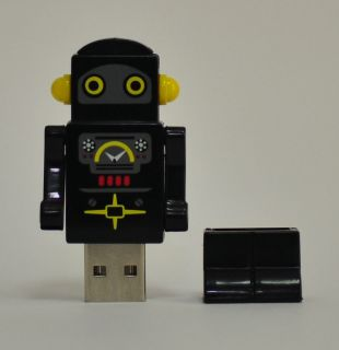 Black Robot USB Flash Drive 4 GB