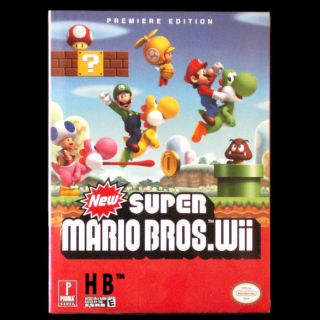 New Super Mario Bros Wii Premiere Edition Game Guide