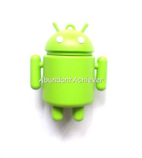 3D Android Green 4GB 8GB USB 2 0 Flash Thumb Memory Stick Drive Novelty Gift New