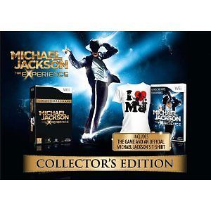 Wii Michael Jackson The Experience Wii Game Collector's Edition ❤ MJ T Shirt