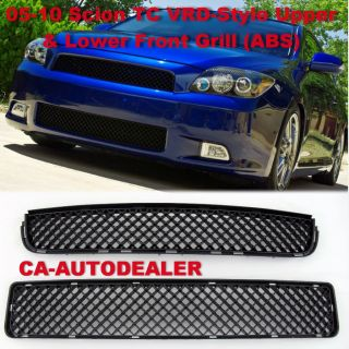 05 10 Scion TC VRD Style JDM Front Bumper Grill Grille Upper Lower ABS Black