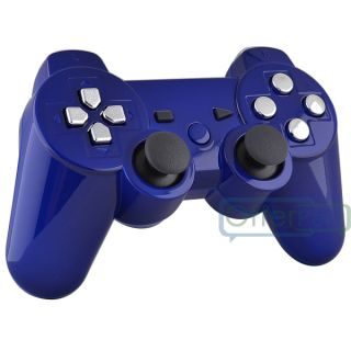 Gold PS3 Buttons and Glossy Blue Custom Shell Case for PS3 Controller Tools