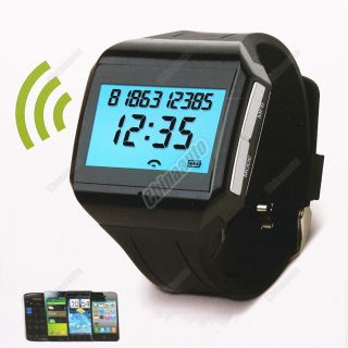 Bluetooth LCD Digital Watch Built in Mic Handsfree Speakerphone Car Kit Wireless