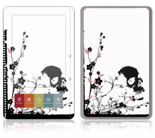 TM21 Barnes Noble Nook Color Touch Decal Skin Sticker Cover Skulls and Flo