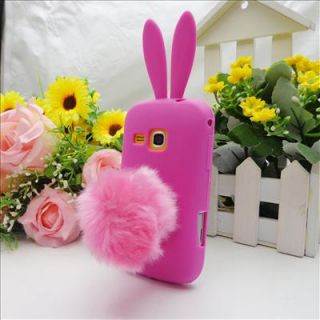 Rose Cute Bunny Rabbit Soft Skin Case Cover for Samsung Galaxy Mini 2 S6500