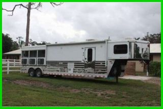 2008 Sundowner 8014 Signature Series 38' 3 Horse Trailer with LQ Florida