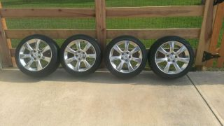 "Cadillac ATS 17"" Polished Alloy Wheels and Michelin Tires Excellent Condition"