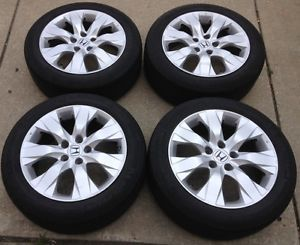 "Nice Set of 4 Honda Accord 17"" Factory Wheels Rims with Michelin Tires TPMS"