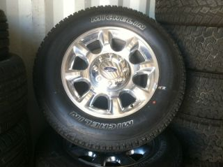 "Ford 20"" F250 F350 Factory Wheels and Michelin Tires 13002"