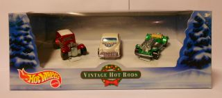 Hot Wheels 2000 Avon Holiday Vintage Hot Rods 3 Car Set Mint in Box