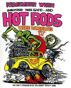 Hot Rods Rat Fink Sticker Decal Big Daddy Roth RF7