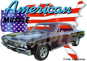 1967 Black Chevy Chevelle SS Custom Hot Rod USA T Shirt 67 Muscle Car Tee'S