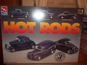 AMT ERTL 3x Hot Rods Model Car Kit 1934 Ford Coupe 125 #3457 1997 SEALED NEW 83