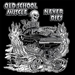 1970s Old School Muscle Hot Rod Gasser Drag Car Blower Skull T Shirt or Tank Top