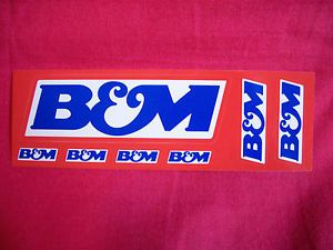 B M Sticker Decal Hot Rods Classic Cars