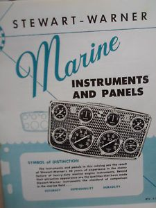 1957 Stewart Warner Gauge Panel Catalog Marine Hot Rods