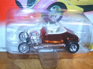Johnny Lightning Hot Rods 1927 T Roadster Orange Chrome MOC
