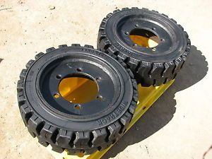 Fork Lift Truck Tires Wheels 2 Widetrack Performance Series 18x6x12 1 8