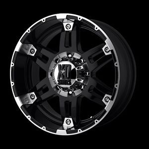 "20"" x 8 5"" Spy XD797 5x5 5 Aspen Sorento RAM Dakota Black Wheels Rims Free Lugs"