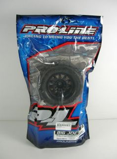 "Proline Big Joe II 3 8"" Mounted RC Truck Tires 2 Front Rear Traxxas PRO119813"