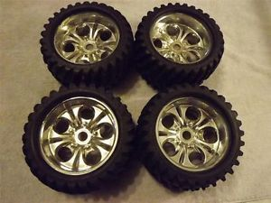 "7 5"" x 4"" 24mm RC Huge Truck Tires Wheels Nitro Spyder Spider Cen Traxxas"