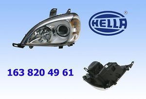 Mercedes W163 ML320 ML350 ML500 Headlight Assembly Left Halogen Hella New