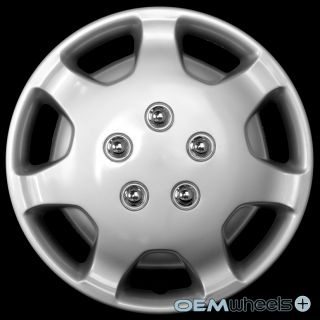 "4 New Silver 14"" Hub Caps Fits Chrysler Mini Van Car Center Wheel Covers Set"