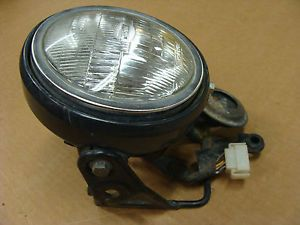 82 Yamaha XT550 XT 550 Headlight Assembly w Mount Bracket Bucket Wiring