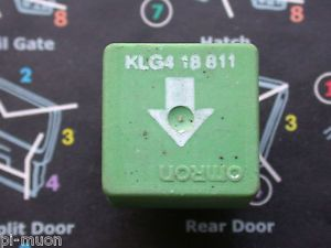 Omron Mazda 626 Fuel Pump Green 4 Pin Relay KLG418811 KLG4 18 811