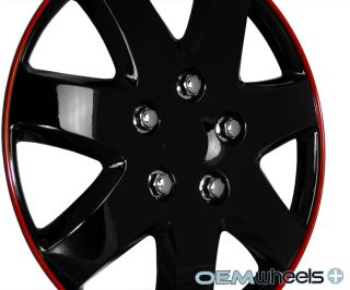 "4 New Black 15"" Hub Caps Fits Chevrolet Chevy Car Center Wheel Covers Set"