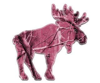 Pink Camo Moose Bow Hunter Wall Car Truck Vinyl Sticker Decal M1 GRV