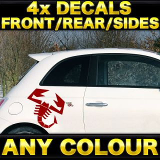 4X Fiat Abarth 500 Scorpion Graphic Kit Stickers Decals