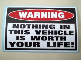 Funny Warning 4x4 Diesel Pickup Truck Car SUV Panel Security Sticker Decal 789