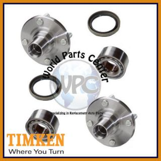 TIMKEN 2 Pair Front Wheel Bearing Hub Assembly Fits Chevy Geo Toyota Without ABS