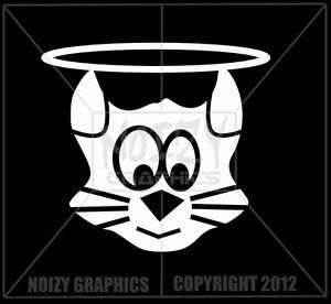 Cute Funny Family Vinyl Car Truck Window Sticker Decal Cat Angel