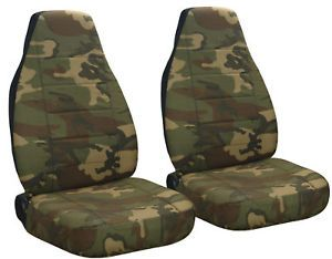Jeep Wrangler TJ Car Seat Covers Camo 31 Brown Green